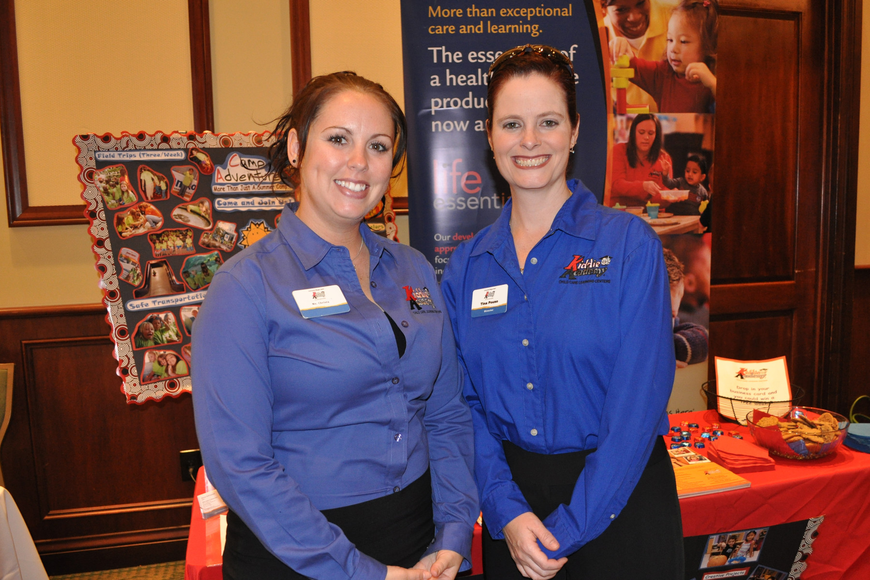 Crista Robertson and Tina Pouso represented Kiddie Academy.