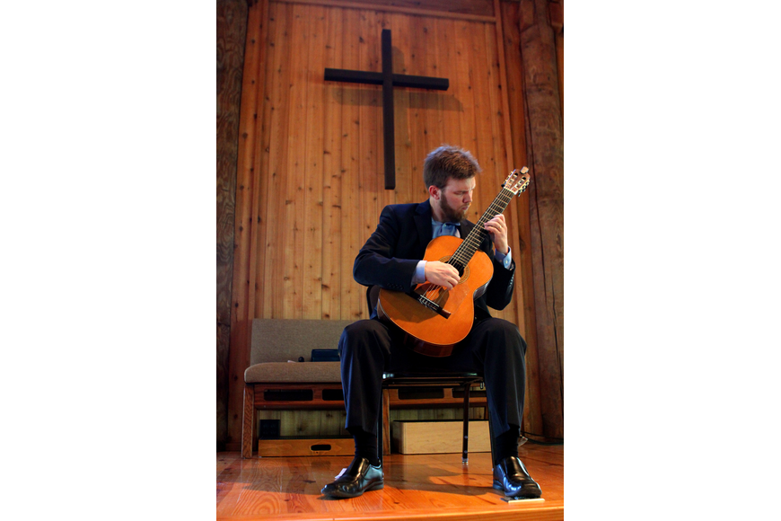 Dr. Zachary Johnson performed, Sunday, March 25, at Siesta Key Chapel.