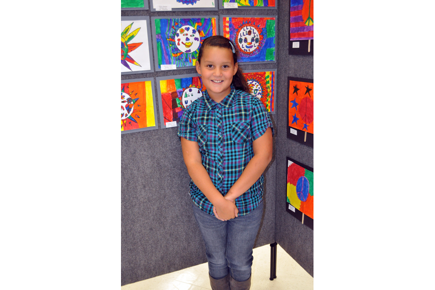 Eight-year-old Reanna Hackett's favorite art form is sculpting.
