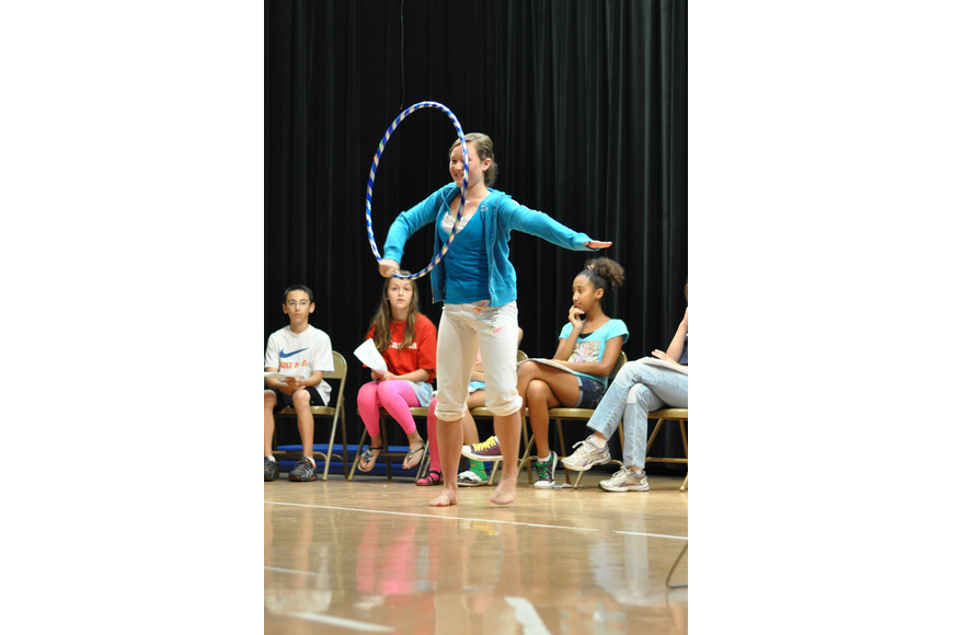 Schae Mayers danced with a hula hoop.