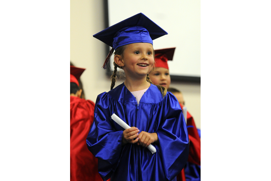 Five-year-old Isabella Maslar enjoyed celebrating with all of her classmates.