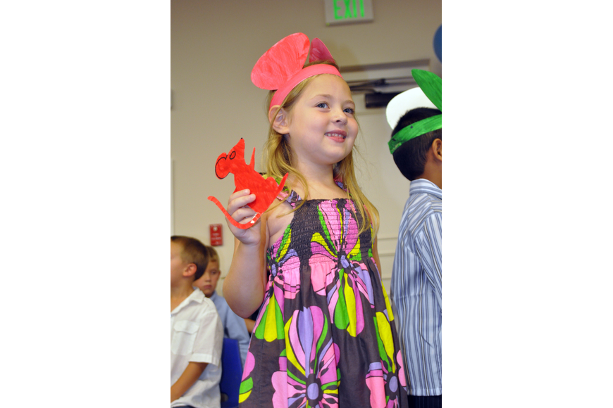 Riley Martin played the role of the red mouse in her class' performance of the Seven Blind Mice.