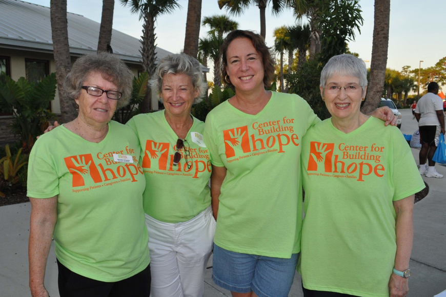 Sondra Schantz, Lia Martin, Priscilla Russell and Valerie Shah were ready to help racers.