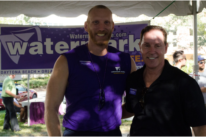 Steve Blanchard and Bill Jeffries represent Watermark, a bi-weekly news magazine that covers LGBT news in Sarasota, Tampa Bay and Orlando.