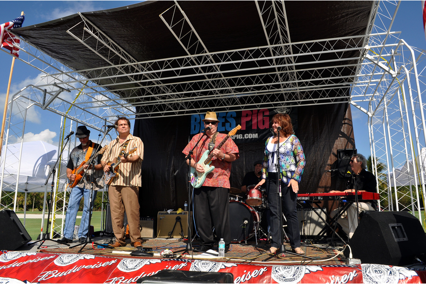Blues Pig rocked out and entertained the crowd with live music Saturday, Nov. 17, at the Longboat Key Gourmet Lawn Party.