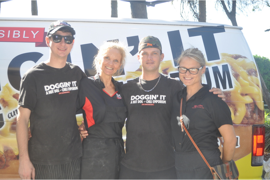 Jeff Ratcliff, Janet Chamberlain, Brian Ackles and Aimee Guarna of Doggin' It