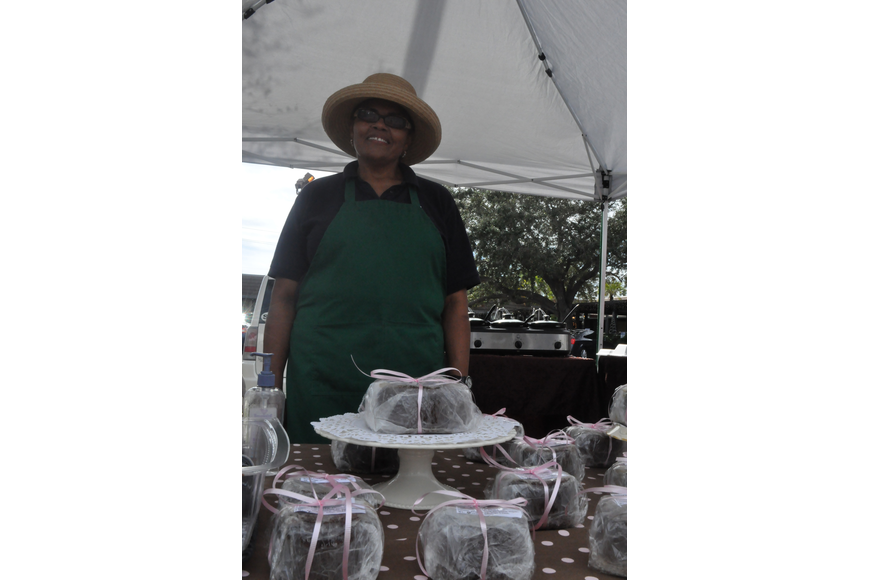 Audrey Green sells Jamaican rum cake and patties.