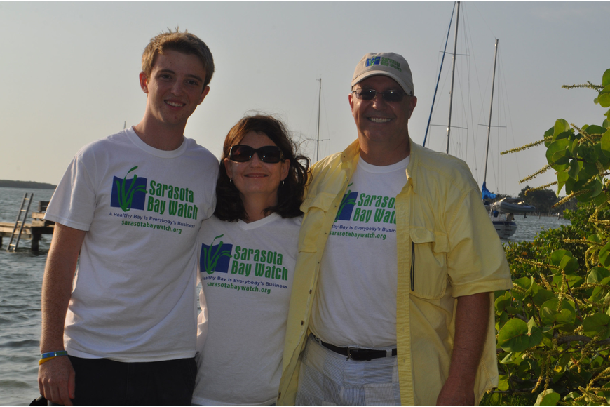 Tanner, Nancy and Larry Stults were among the 100 volunteers who helped with the May 12 Sisters Key Island cleanup.
