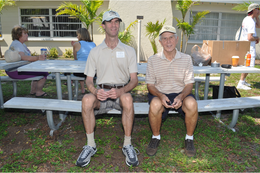 Peter and George Krozser enjoyed a father-son outing June 29 at The Friendliest Catch. The Sarasota Outboard Club sponsored the catch-and-release fishing event to benefit the physically and mentally handicapped.