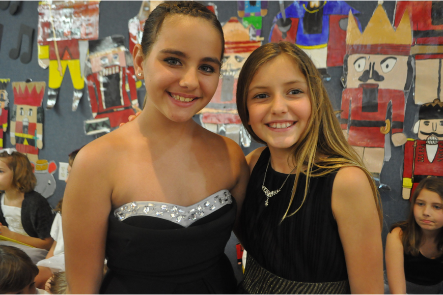 Fifth graders Chelsea Lea and Ella LaClair sang in the choir.