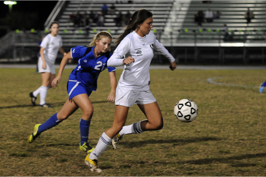 Lakewood Ranch senior midfielder Chelsea Martin was credited with an assist.
