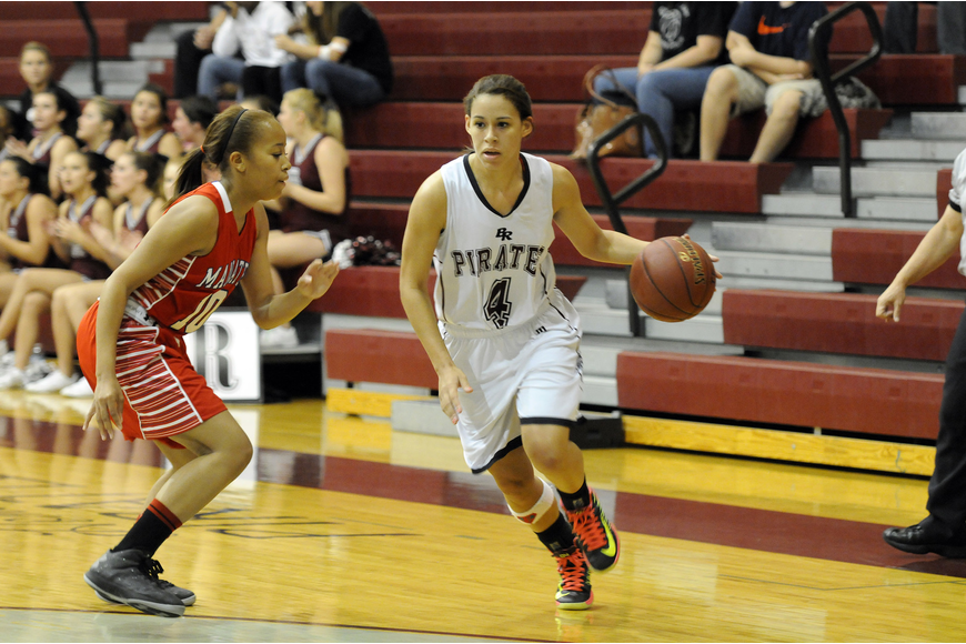 Braden River senior Cheyenne Ogline scored 15 points to lead the way for the Lady Pirates.