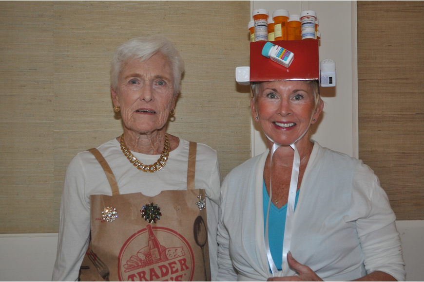 Marcia Deitrich and Sharyn Ford in a pillbox hat.