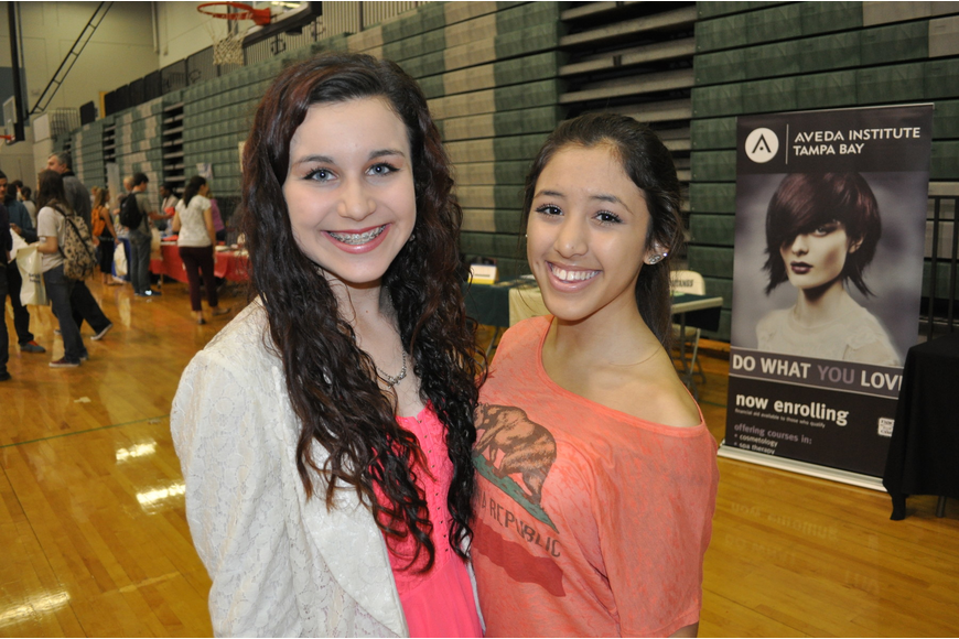 Freshmen Angela Gennocro and Ariana Bravo got an early start on college hunting.