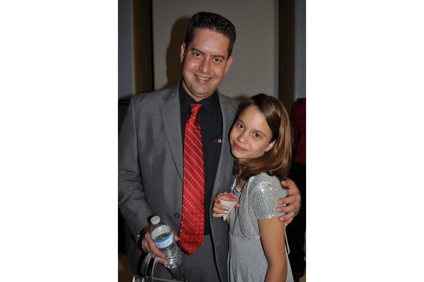Ben Bakker with his daughter, Cadence, 11
