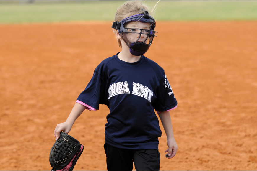 Six-year-old Madison Taylor couldn't wait to take the field.