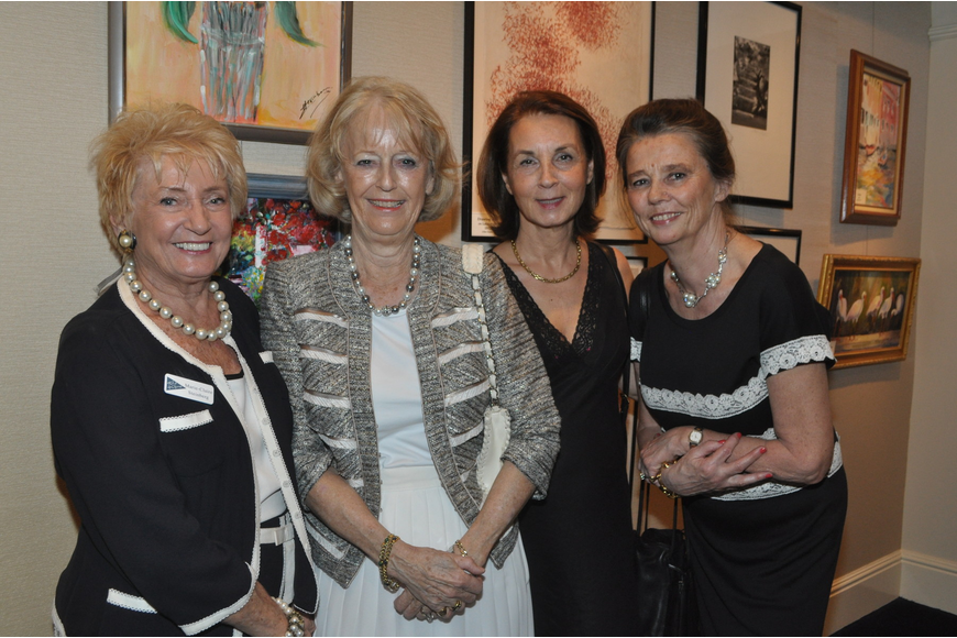 Claire Steinberg and Marlene DeVazeille with Steinberg's cousins from France, Nicole and Agnes Lardenois
