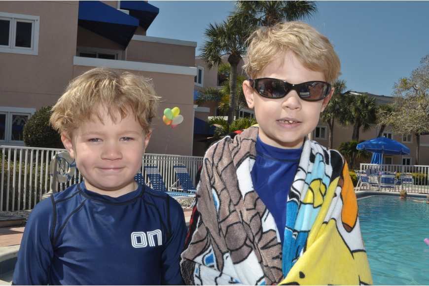 The Higgins brothers, Jack, 5, and Will, 7