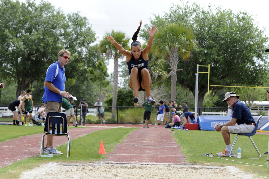 The Out-of-Door Academy sophomore Reanna Gregory competed in the long jump, the triple jump, the high jump and the 200-meter dash.