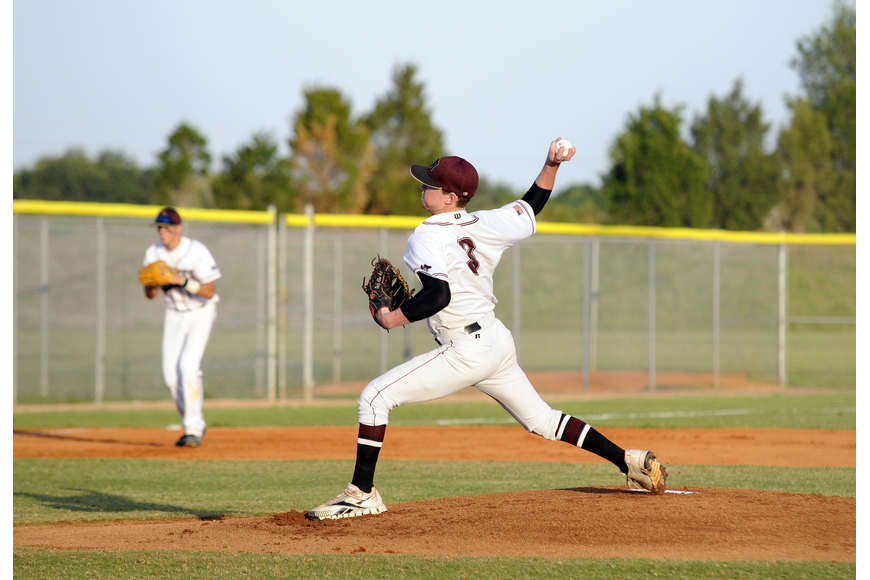 Senior Brooks Norton pitched a complete game, allowing four hits and a walk while striking out seven.