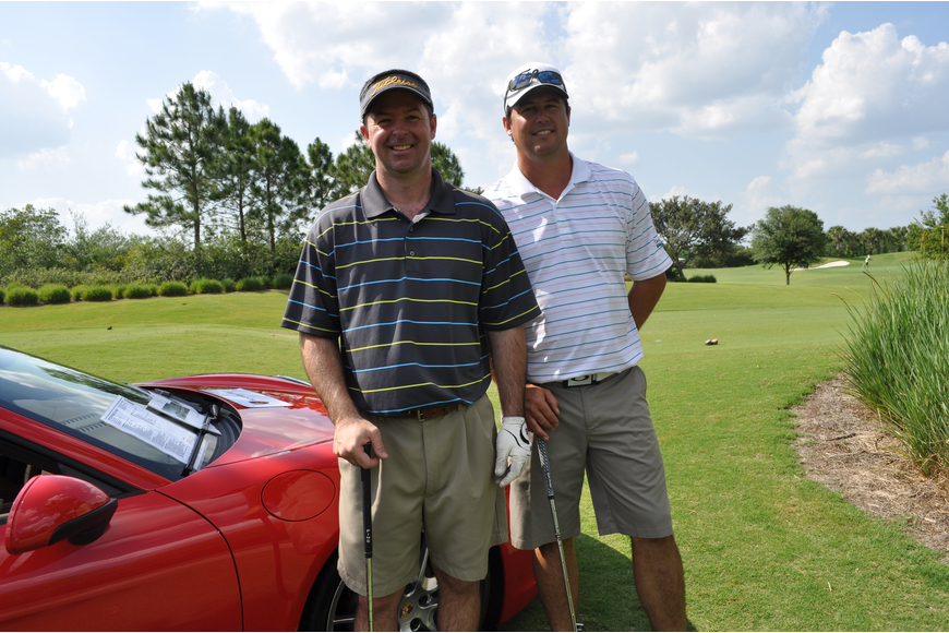 Jeff Guy of Syprett Meshad and Todd Evans of the Deep Creek Golf Club in Port Charlotte