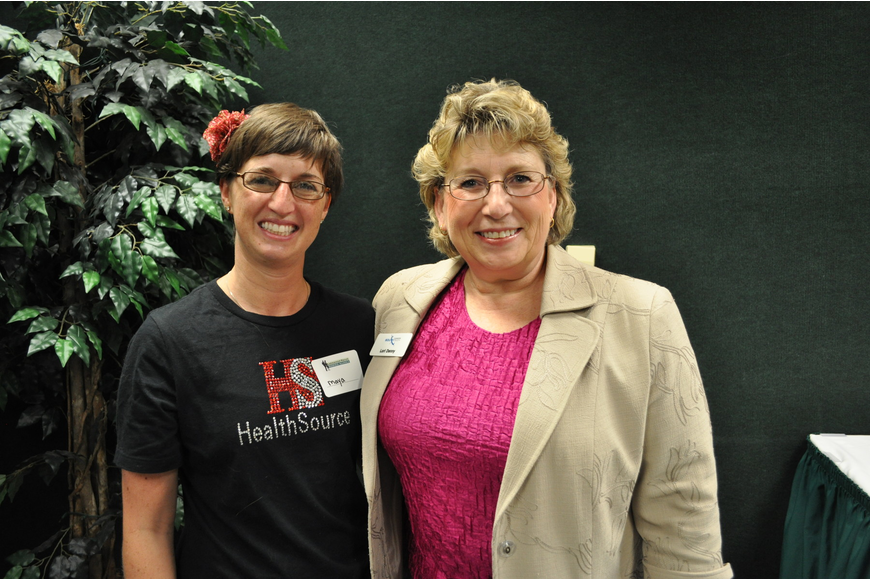 Maya Danilowitz of HealthSource and Lori Denny of SouthTech