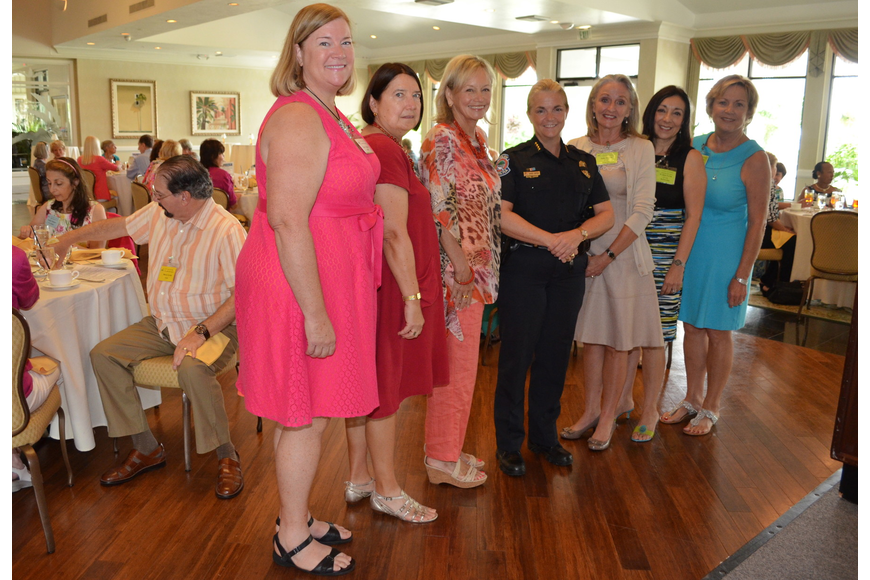 Kay Consigny, Carol Anthony, Beth Bertsch, Chief Bernadette DiPino, Sally Piccolo, Evelyn Levin and Patty Riddle