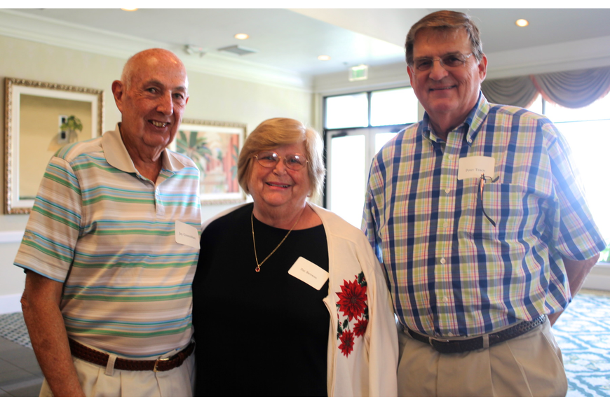 Jay Greenblatt, Pat Benson, Chair of the Democratic Party of Manatee County, and Peter Tracy