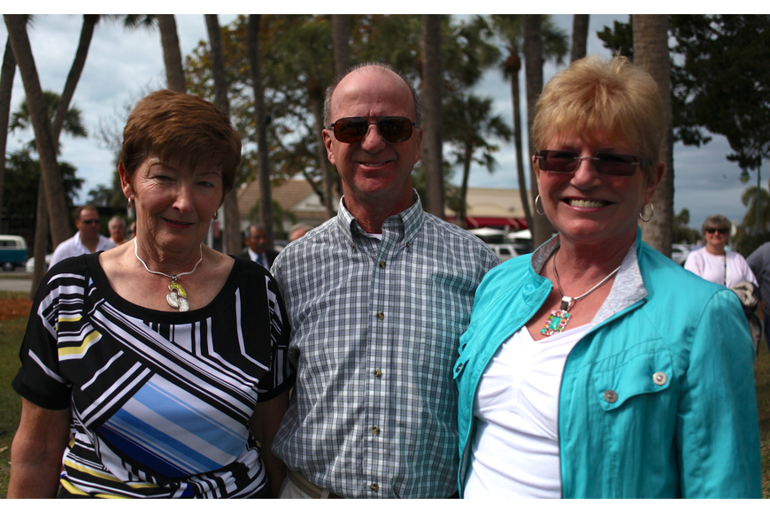 Cathy Sutton with Gary and Sharon Park