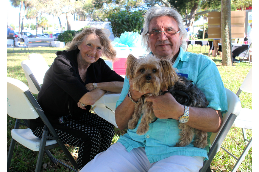 Joan and Mario Arcari with their 11-year-old Yorkie, Oliver.