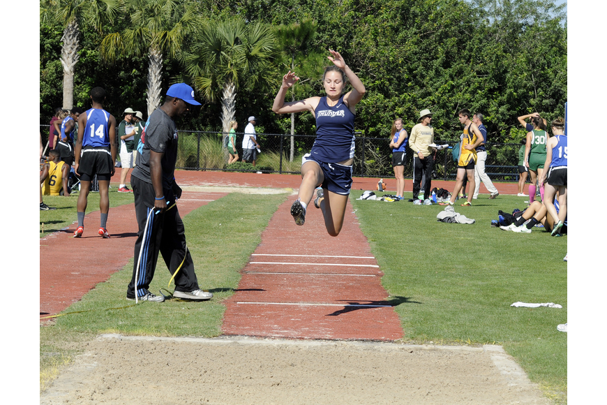 ODA freshman Chloe Ruppert set a new personal best of 12 feet, 9 inches in the long jump.