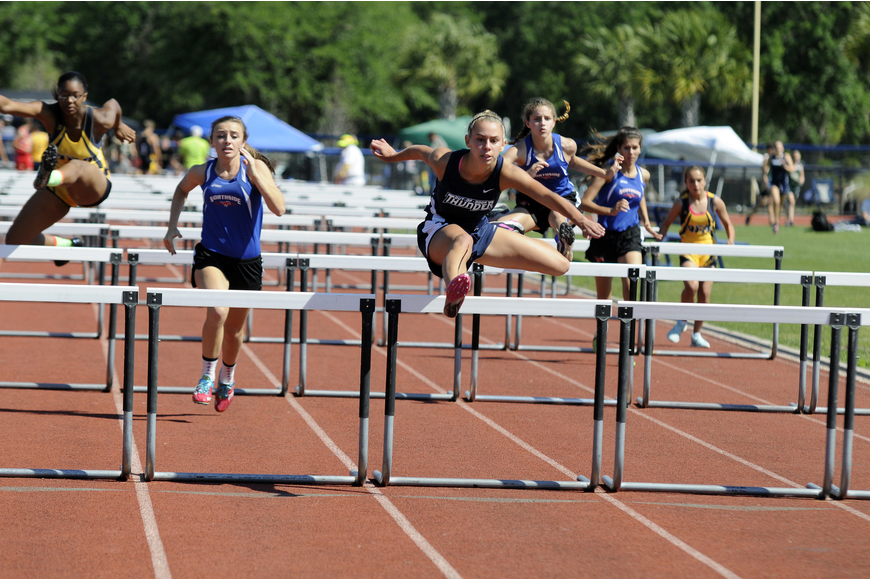 ODA's Madison Shaw finished second in the 100 hurdles with a time of 16.61 seconds.