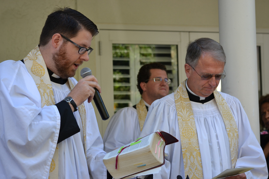 Rev.David Bumsted and Rev. Fredrick Robinson, Rector officiated and read scripture for the St. Francis Day Blessing of the Animals.