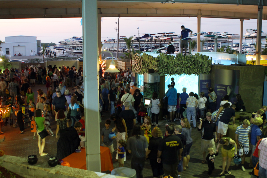 A view of the crowd at Mote's Night of Fish, Fun & Fright.