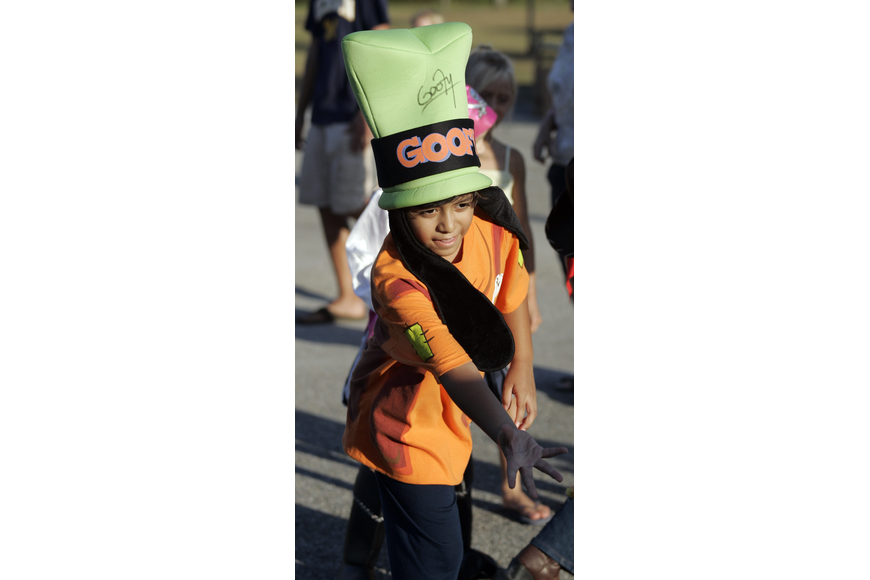 Willis Elementary second-grader Nicholas Caballero had a blast playing the carnival-style games.