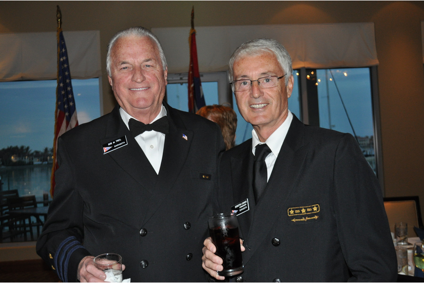 Treasurer, Bob du Treil and outgoing Commodore, Demetri Lignos