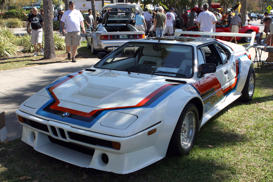 Robert Snyder's 1981 BMW M1 Procar was on display on Saturday, Feb. 19 at the Sarasota Exotic Car Fest in St. Armand's Circle