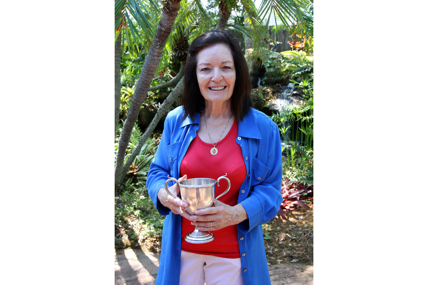 Garden club president, Ginger Vance, won the cut flower sweepstakes on Sunday, March 27 during the 74th Annual Sarasota Garden Club Flower Show.