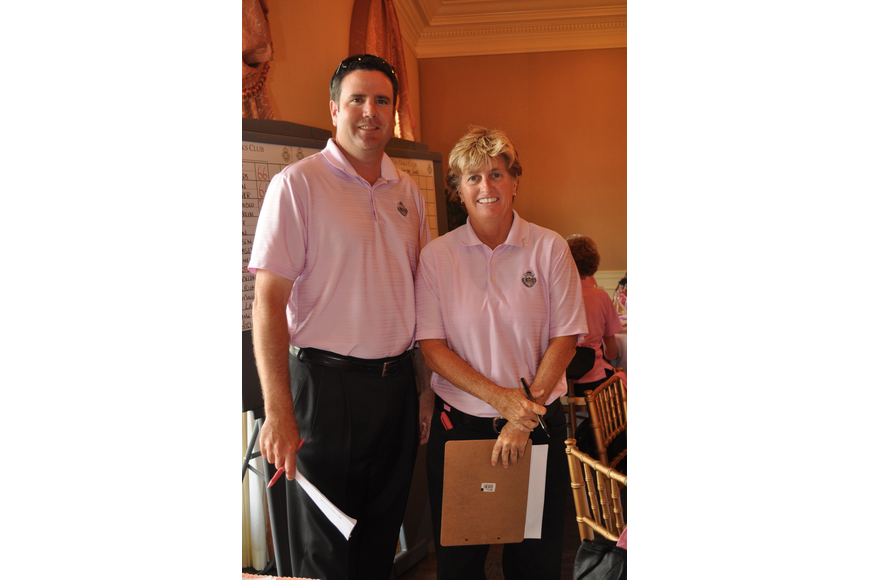 Director of golf Tim Beckwith and assistant golf pro Shari Lindsey