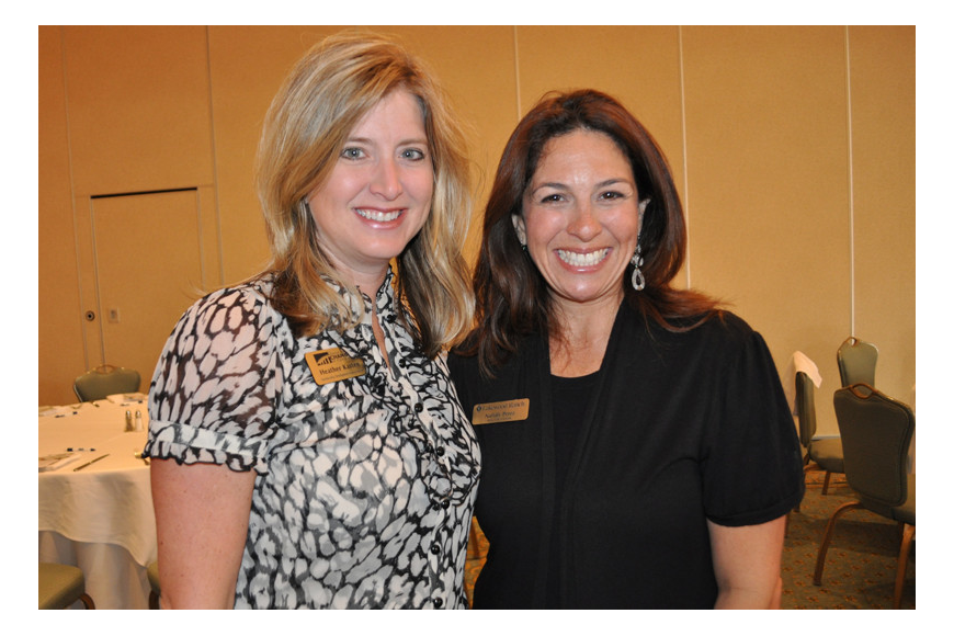 Heather Kasten of the Sarasota Chamber of Commerce with Nattaly Perez, a Realtor liason with Lakewood Ranch Communities