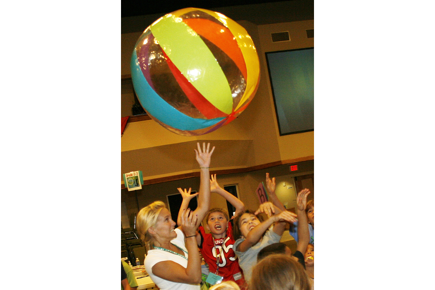 This large beach ball was a source of plenty of fun throughout the week.