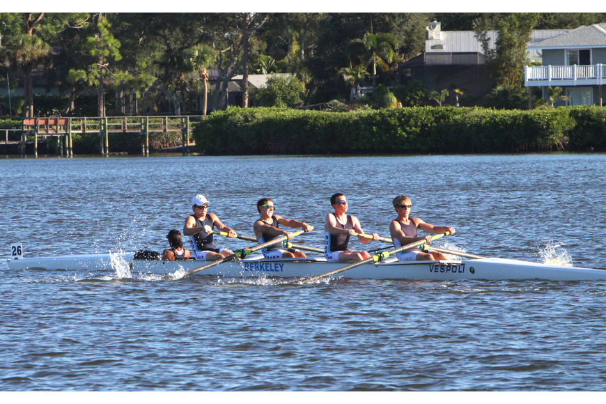 Berkeley Prep BC A came in third in the Mens HS 4+.