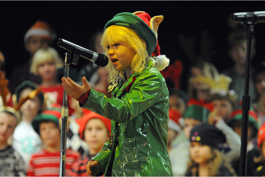 Stormy elf, Savannah Else, tells how foggy weather could prohibit Santa Claus from flying.