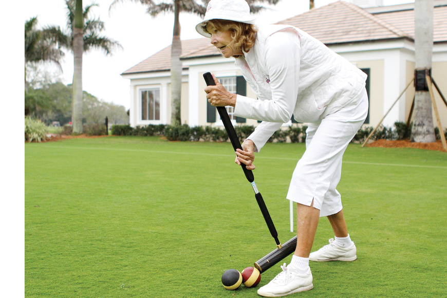 Susan Lawrence helped build up The Oaks croquet team to more than 50 members.