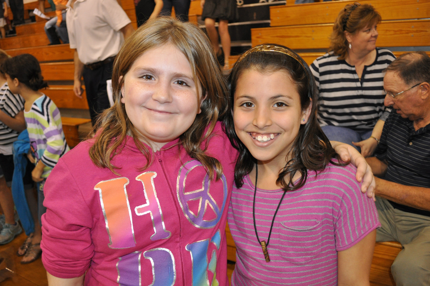 Freedom Elementary School students Karrigan Murfino and Paula Merizalde both are excited to start the dance program at Haile next year.