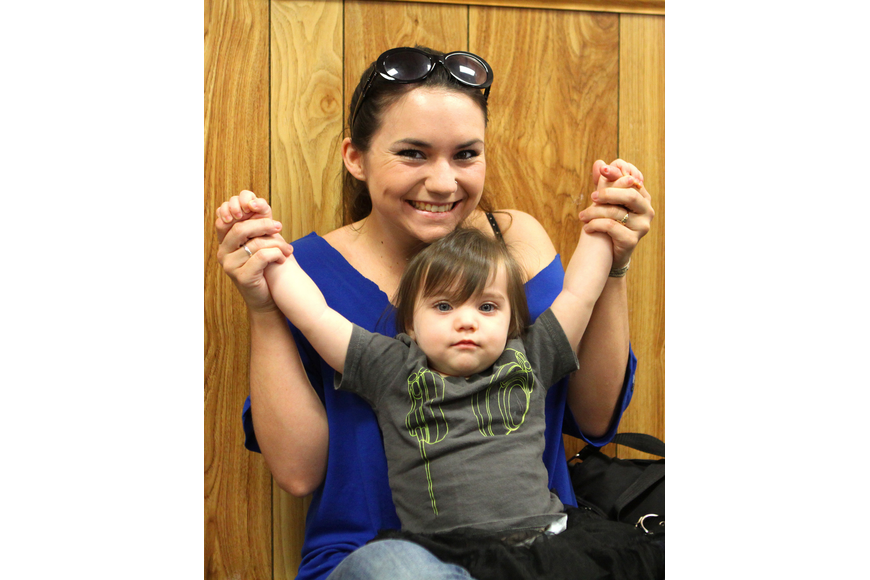 Veronica Krukowski with her daughter, Delilah, 18 mos.