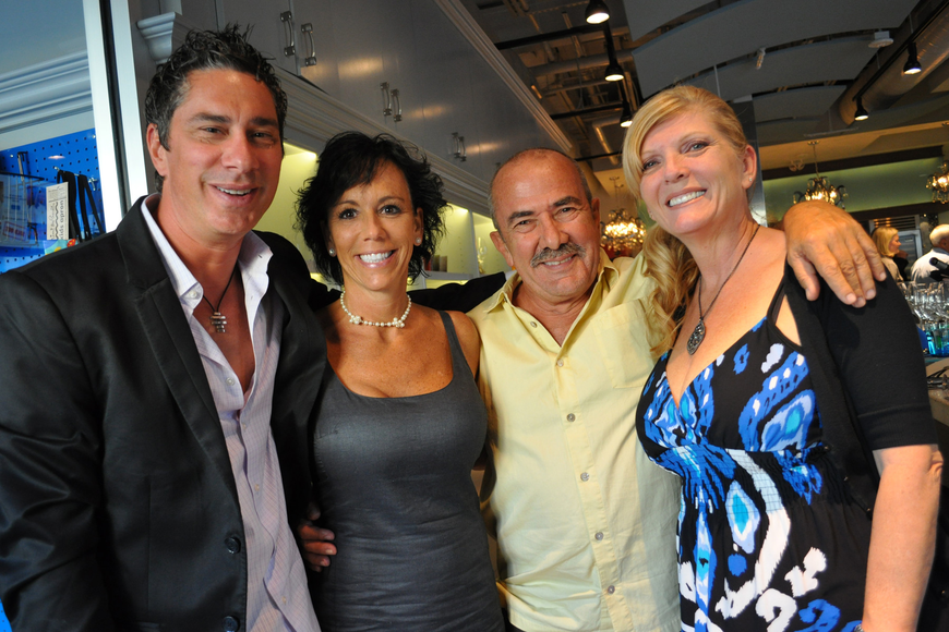 Gianni Latino and Rian Carver with Mongo and Sarah Marich