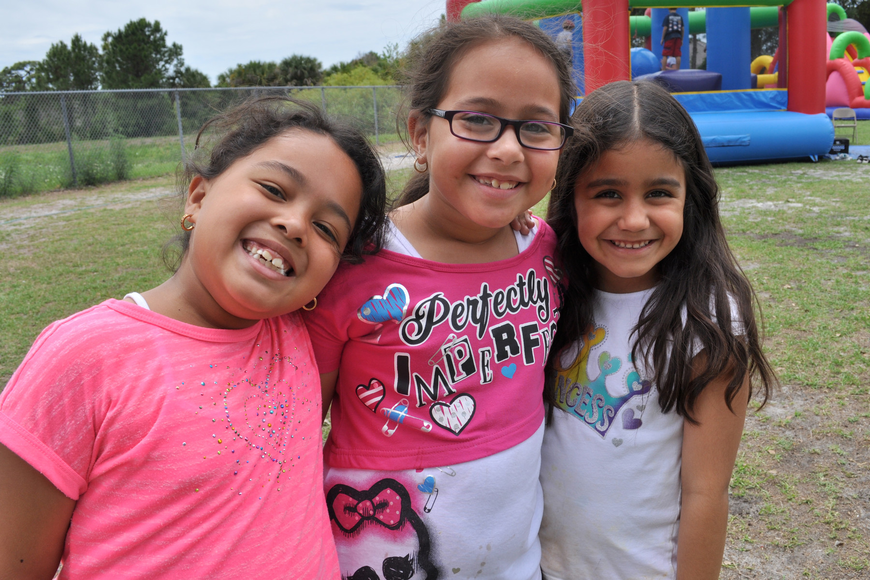 Luna Alvarado, Angelique Caba and Angelina Hernandez all are in different classes, but made sure to play together.