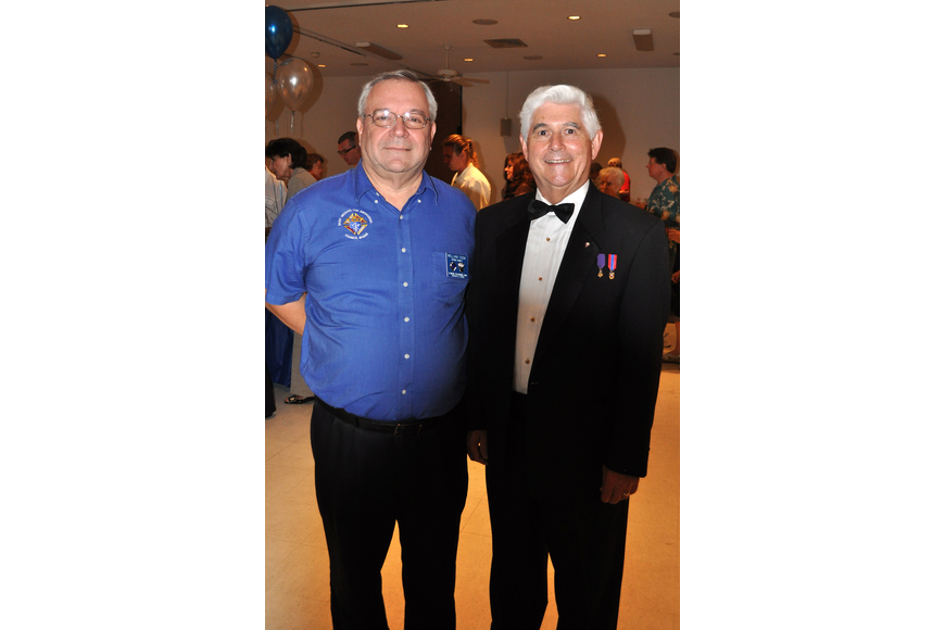 Grand Knight Bill Cook and District Deputy Bob Marrah