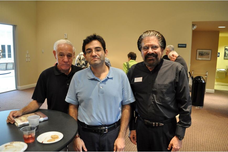Jerry and Mark Engleson with Dr. Richard Greenspan